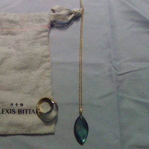 Alexis Bittar set of ring and necklace